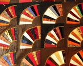 Vintage Silk and Velvet Fan Quilt...Delicate Condition