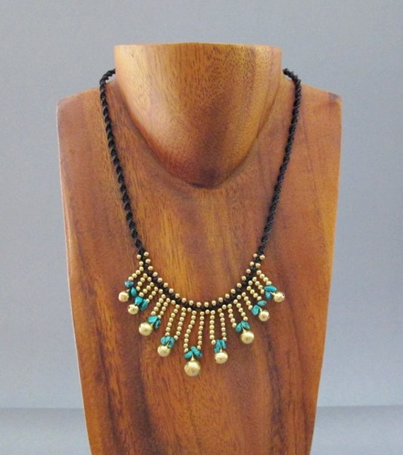 Hippie Jingle Bell with Turquoise Necklace