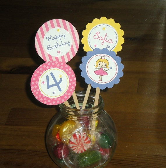 Princess Cupcake toppers - Set of 24