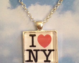 I Love New York Pendant Necklace