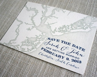 Charleston Map Save the Date