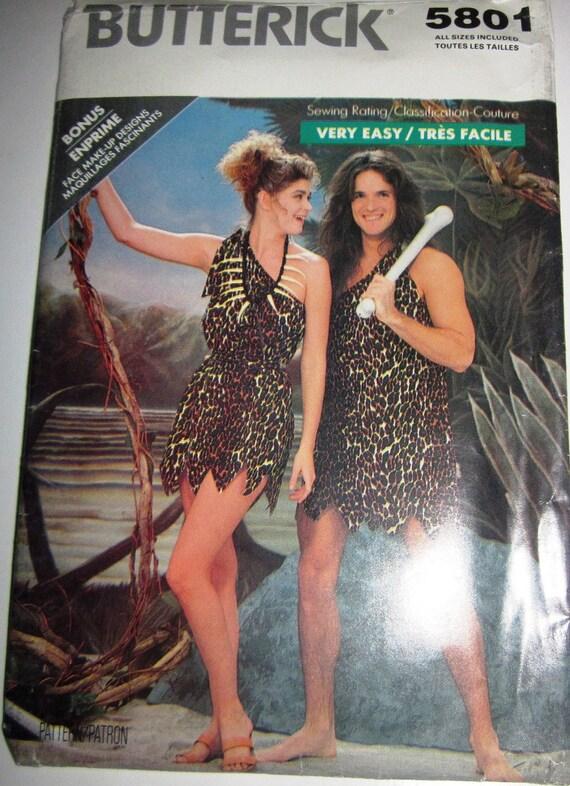 jane and tarzan costume sewing pattern by butterick 5801 adult