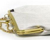 SALE - LAST ONE - 13'' laptop bag White Gold - Duchess Case collection