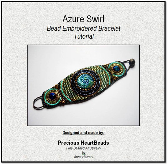 Tutorial instructions only bead embroidery bracelet cuff