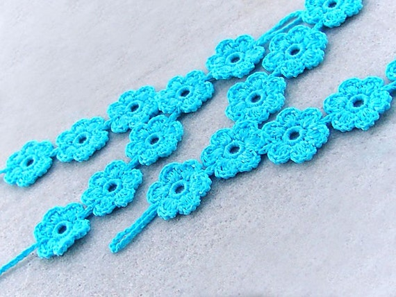 Barefoot sandals, crochet TURQUOISE nude shoes