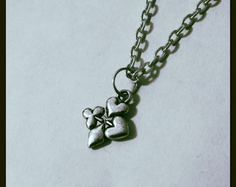 Cross Shape Card Suits Unisex Necklace Alice In Wonderland
