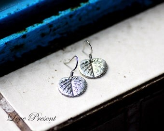 Bridesmaid Earrings - Garden Wedding - Silver Leaf Antique Art nouveau Hook Earrings - Oval,Triangle and Heart Leaf - Choose your Leaf Shape