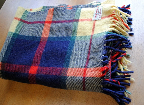 RESERVED FOR OLIVER Wool Plaid Troy Robe Throw