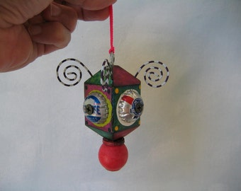 Hanging Found Object Sculpture / Ornament, by Fig Jam Studio