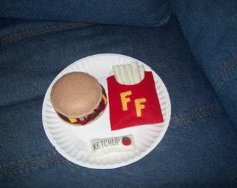 Bacon Cheeseburger Playfood Set