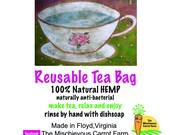 HEMP Reusable Tea Bag  GREAT little gift for a tea drinker