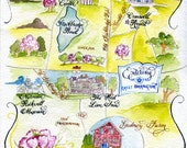 Custom Watercolor Wedding Map