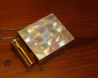 Lustrous, MINT, Zell Fifth Avenue Genuine MOTHER of PEARL & Brass, Multi-Level, Demi Carry-All/Compact - Unused and Gorgeous