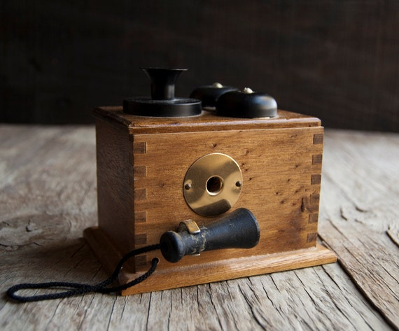 Wooden Telephone Pencil Sharpener - Victorian Phone