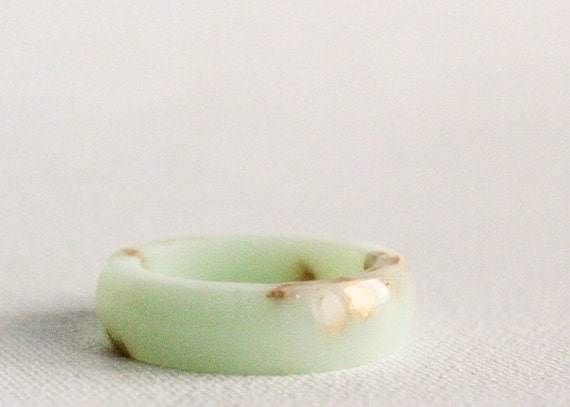mint gold size 10.5 round resin eco resin ring