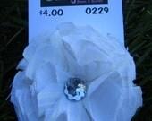 White Shabby Chic Flower Clip