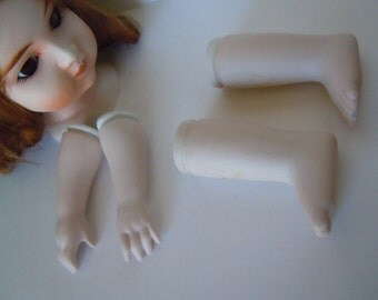 Doll Head Arms and Legs Doll Parts