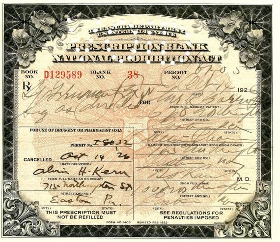 PROHIBITION Prescription Medical Whiskey By ProhibitionWhiskey