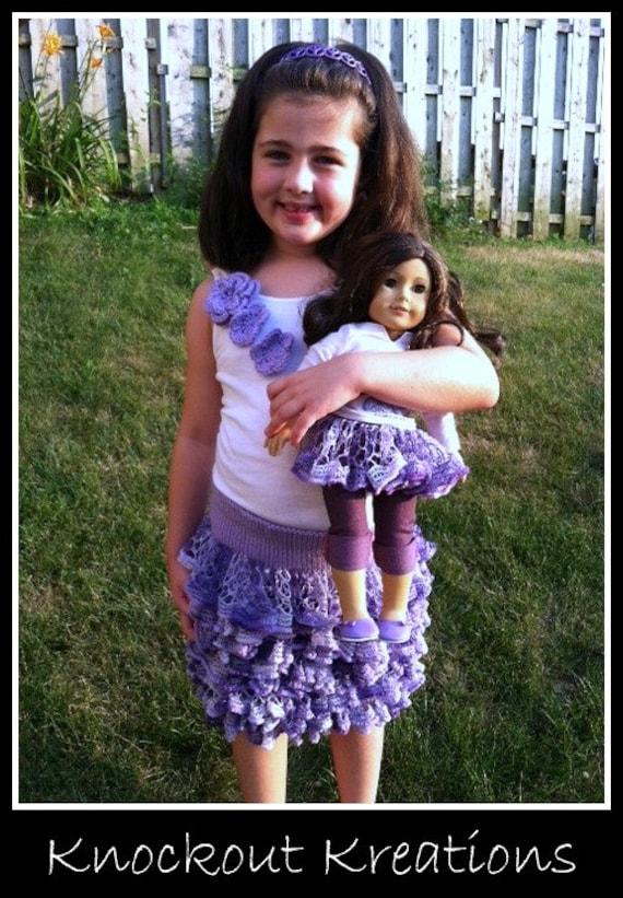 Knit ruffle skirt, kids skirt pattern, knit pattern, ruffle skirt pattern, baby skirt pattern, toddler ruffle skirt
