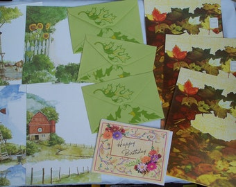 Vintage Stationery Collection - Fall in the Country