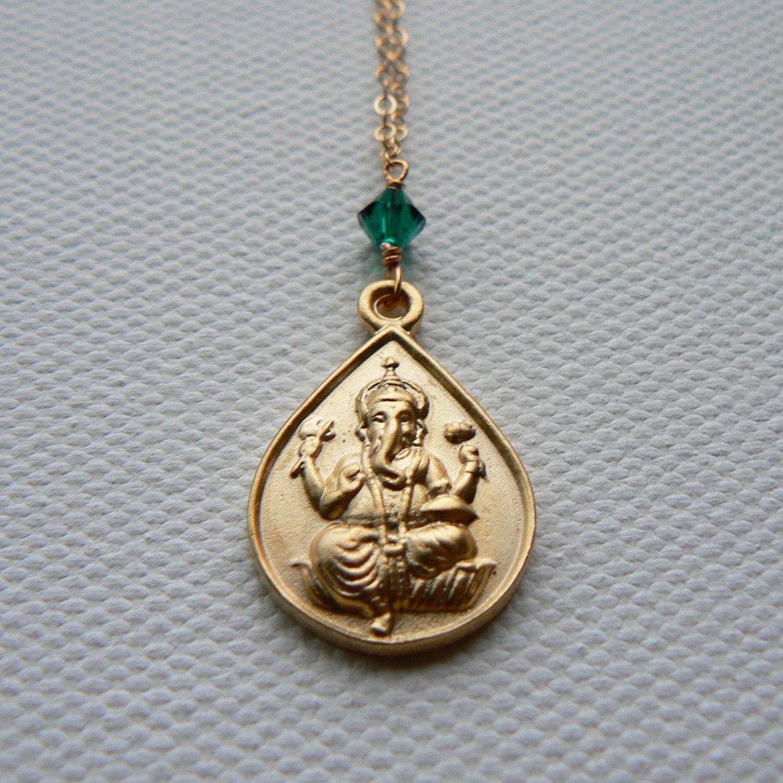 gold ganesha necklace ganapati pendant ganesha necklace