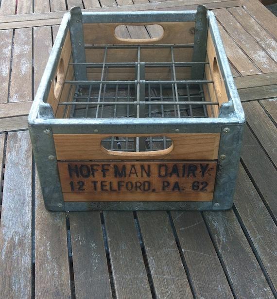 Vintage Milk Crate - Hoffman's Dairy Telford PA