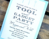 Tool & Gadget Shower Invitation