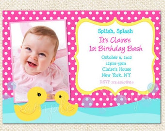 Rubber Duck Birthday Invitations