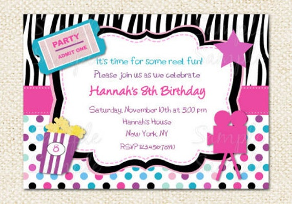 Like This Item?  Free Printable Ticket Style Invitations