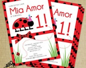 Little Lady Bug Invitation - Set of 20