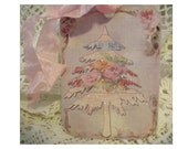 Shabby Christmas Tree Sparkly Gift Tags - SET of 6