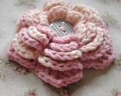 Neapolitan Crochet Brooch