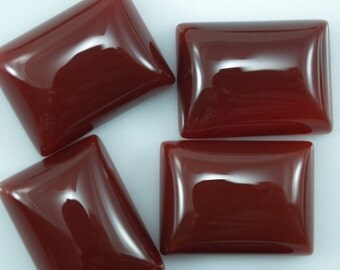 4 pcs Agate 12x16 mm rectangle cabochons