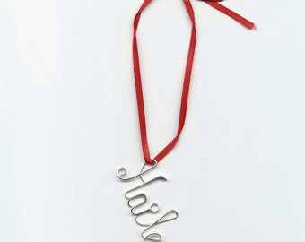 Personalized Ornament. Holiday gift.