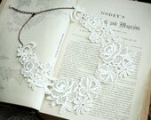 lace collar necklace -MERIDITH- ivory