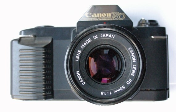 canon t50 manual focus 35mm slr camera with 50mm by