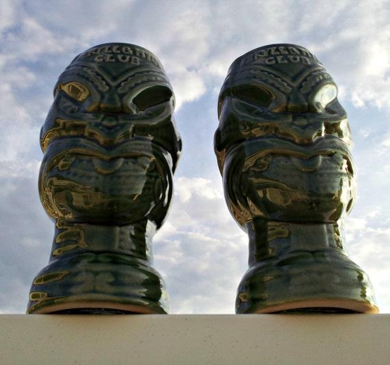 Tiki Mugs - Freaky Fraternal Tiki Twins - Pair of Jekyll & Hyde Club New York Mugs