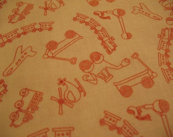 Riley Blake Fabric Scoot Tiny Toys in Cream -1 YD