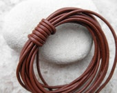 1.5mm Leather Cord - Saddle - By the Yard