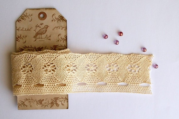 Ivory Cotton Lace, Spanish Cotton Lace, Trim - RESERVED FOR TIA