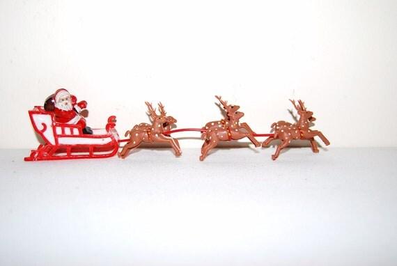 Vintage Santa with Deer
