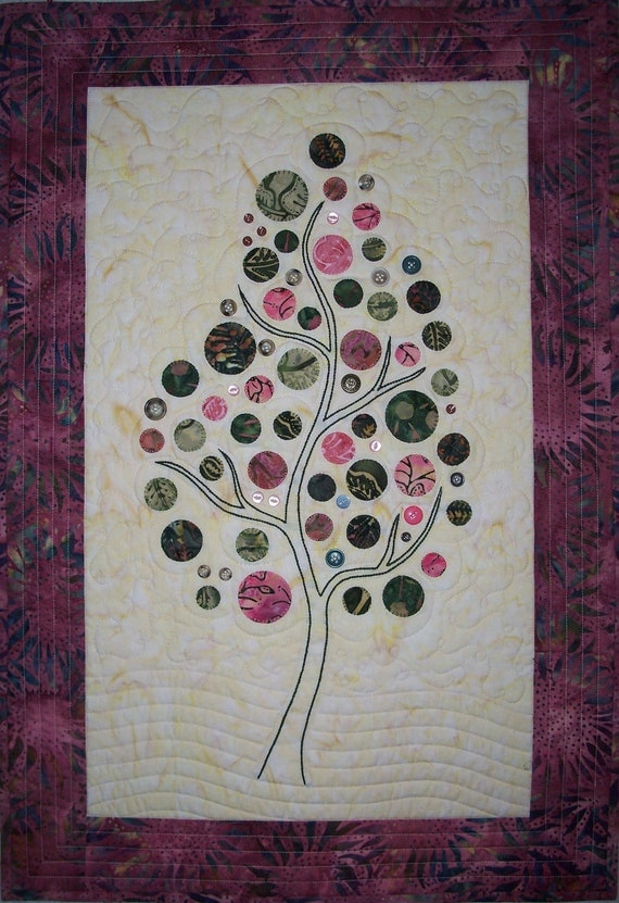 Branching Up Wall Hanging Quilt Pattern