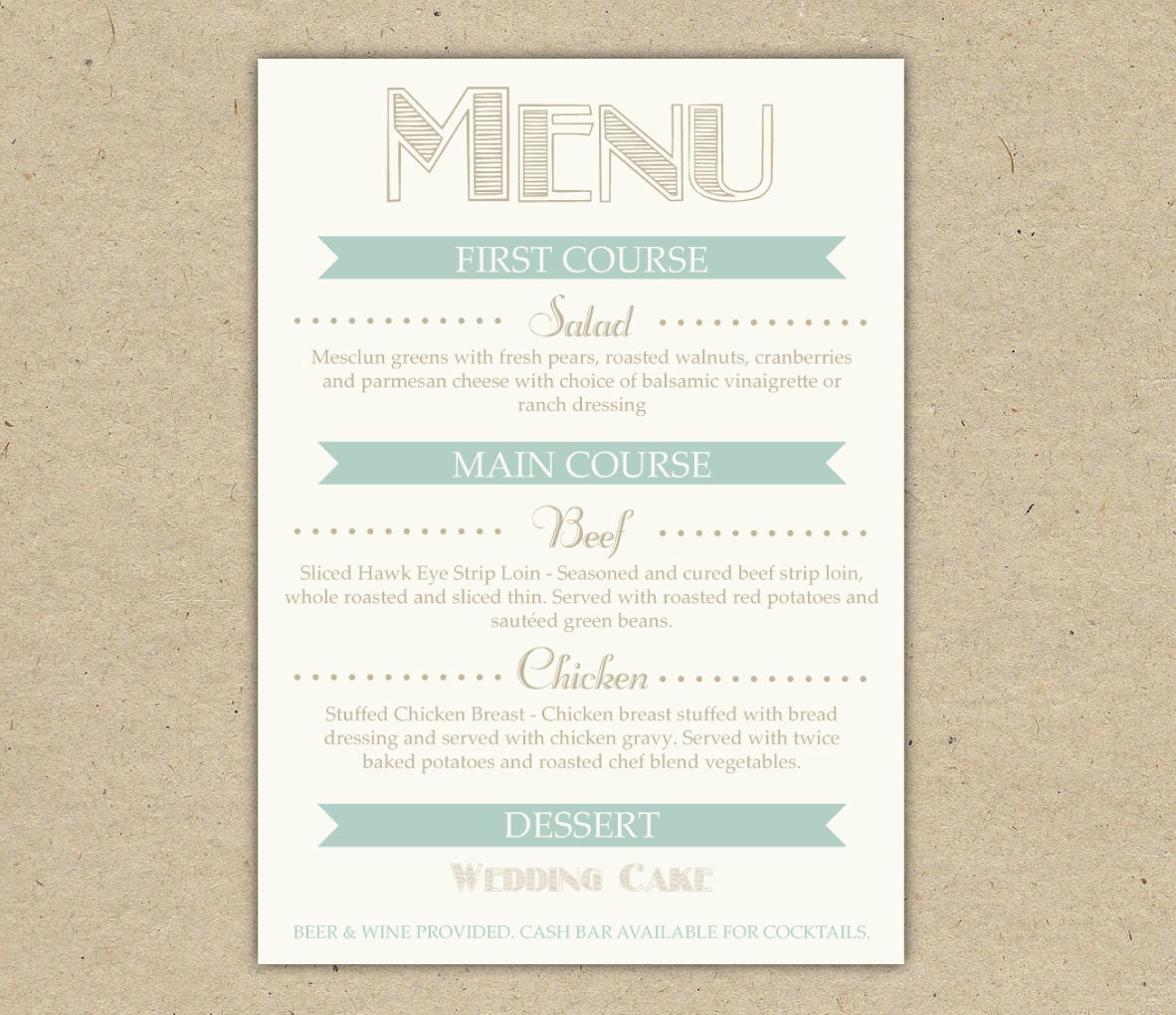 It is a photo of Sly Printable Menu Template