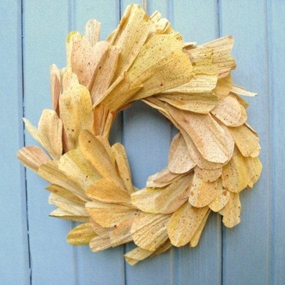 Cornhusk Wreath - Fall Wreath - Autumn Wreath - Corn Husk Door Wreath - Thanksgiving