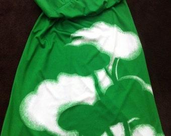 Vintage Kelly Green Full Length Dress