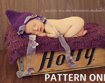 baby girl hat pattern- crochet hat patterns - enchanted pixie pattern 124 - girl photo prop patterns - baby girl hats - hat crochet pattern