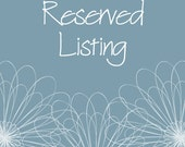Reserved Listing for moms2boyz