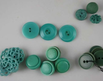 Vintage Turquoise Buttons