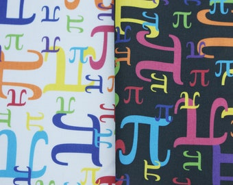 Pieces of Pi Cotton Math Fabric - 1 Yard