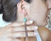 turguoise  skull earrings  ,delicate jewelry